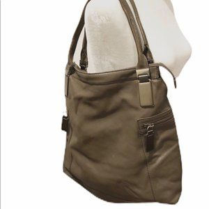 Banana Republic Taupe Cow Leather Bag.